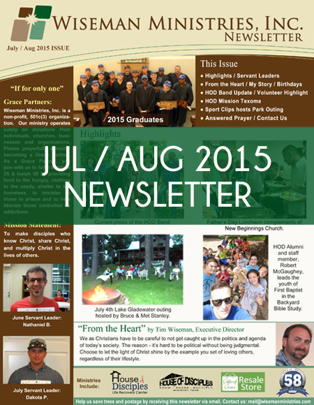 July - Aug 2015 Newsletter